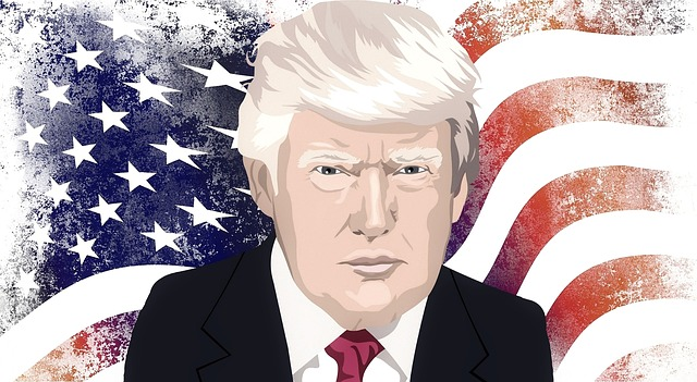 donald trump and american flag